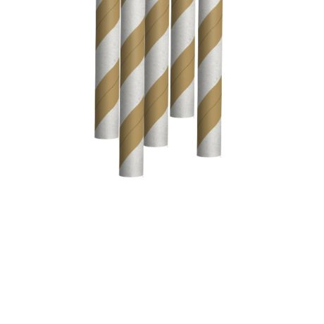 Kraft and White Striped Extra Long Medium Paper Drinking Straw 240x8mm - Wholesale