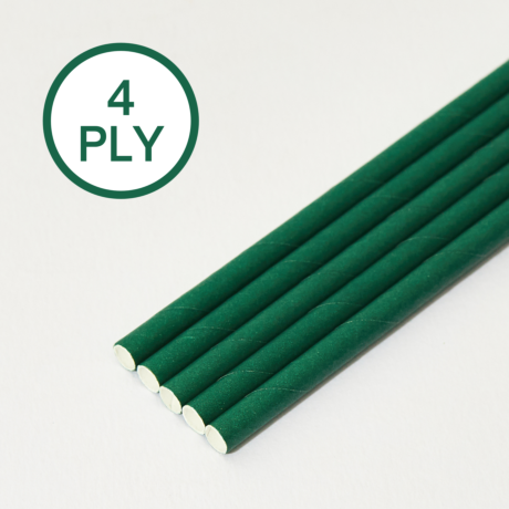Eco Green, 4 PLY Super Strength Paper Drinking Straw 8MM x 200MM
