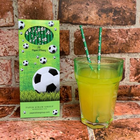Football Paper Straws - Pack of 38 Straws