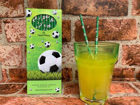 Football Paper Straws - Pack of 38 Straws