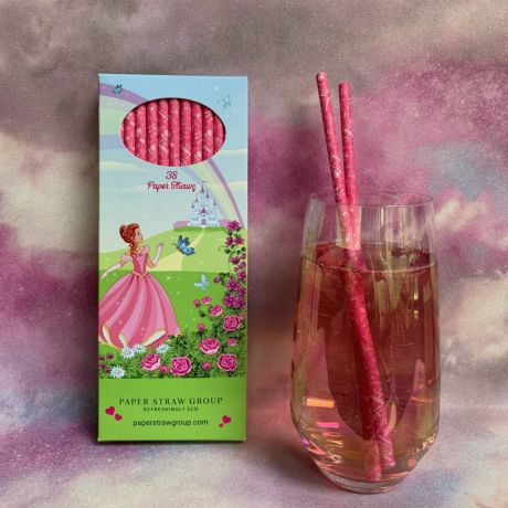Princess Paper Straws - Pack of 38 Straws