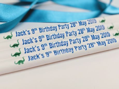 Personalised Plain Medium Paper Drinking Straw 200x8mm - At Home and Party Use