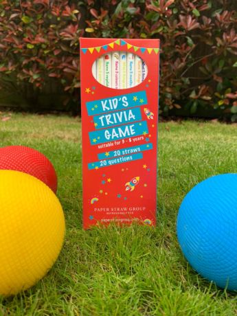 Kids Trivia Game Straws - Pack of 20 straws, 8mm x 200mm