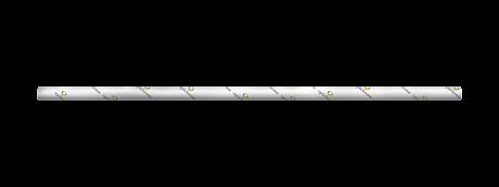 Branded White Medium Paper Drinking Straw 200x8mm - Wholesale