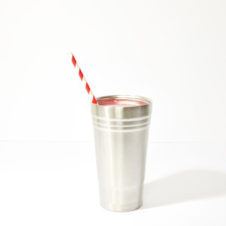 Red and White Striped Extra Long Wide Paper Drinking Straw 240x10mm - Wholesale