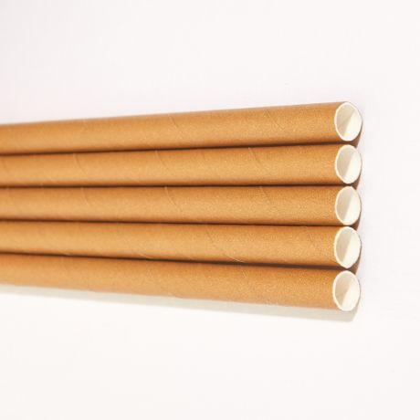 Eco Kraft Extra Long Wide Paper Drinking Straw 240x10mm - Wholesale