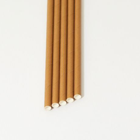 Eco Kraft Narrow Paper Drinking Straw 200x6mm - At Home and Party Use