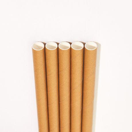 Eco Kraft Wide Paper Drinking Straw 200x10mm - Wholesale