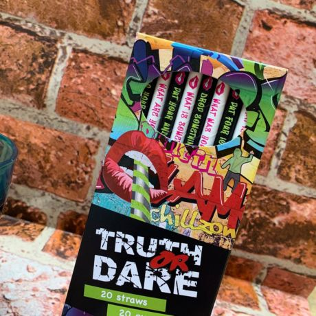 Truth or Dare Straws 8mm x 200mm Box of 20