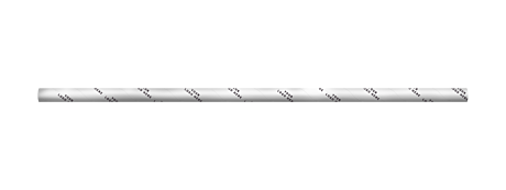 Branded White Extra Long Narrow Paper Drinking Straw 240x6mm - Wholesale