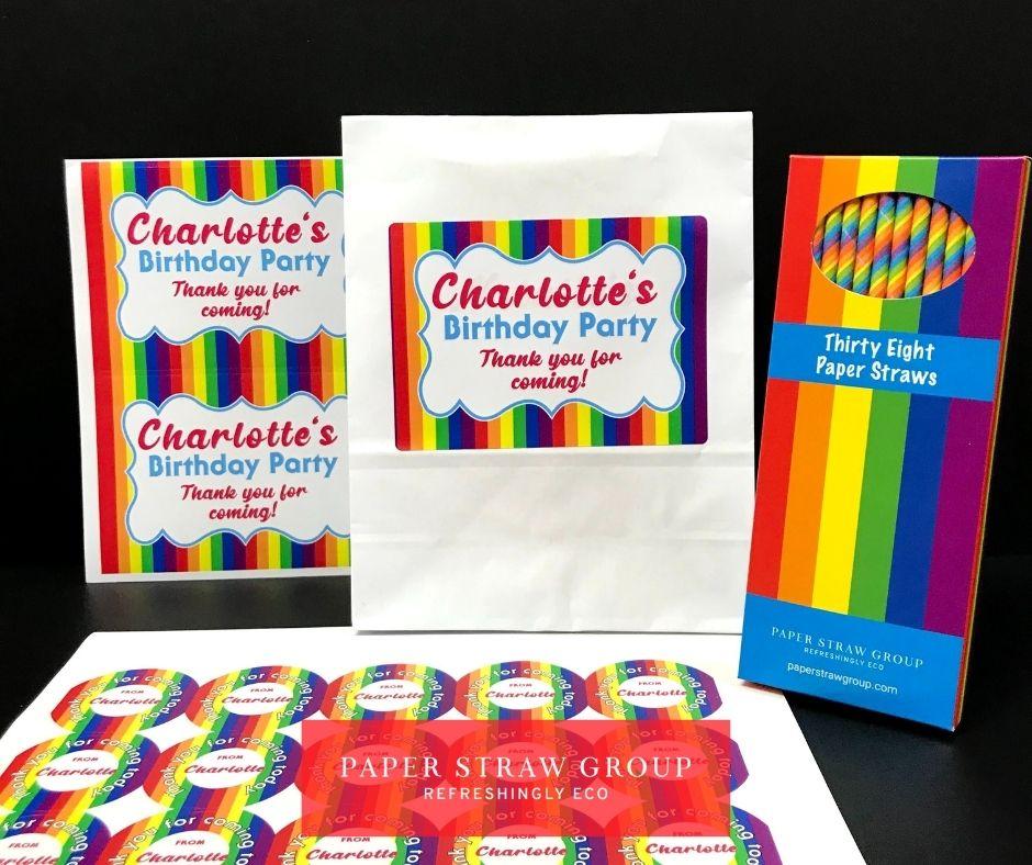 Personalised Party Bag Packs Rainbow